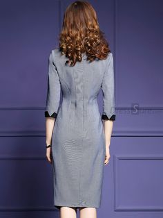 Buy Embroidery Lace Three Quarters Sleeve Asymmetric Bodycon Dress with High Quality and Lovely Service at DressSure.com