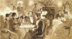 Ivan Kramskoy - In the Restaurant