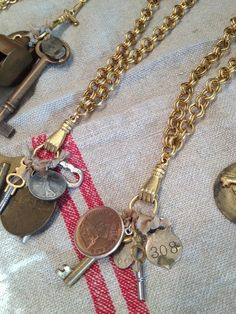 Vintage Ephemera Necklaces | tedkennedywatson.com