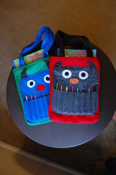 adorable monster colouring tote (link to others in the blog post also)