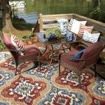 The Mohawk Home Mystic Ikat Primary Indoor/Outdoor Rug features an eye-catching pattern in vivid primary colors. The Mystic Ikat rug is made from synthetic. Lowes Outdoor Rugs, Indoor Outdoor Carpet, Indoor Outdoor Area Rugs, Outdoor Living, Outdoor Decor, Outdoor Spa, Patio Rugs, Carpet Brands, Mohawk Home