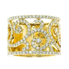 everyday ring watches for ladies | ... and Diamond Rings > everyday-18k-yellow-gold-and-diamond-swirl-ring