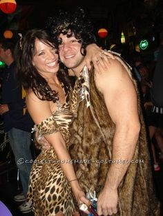 Coolest Cave-Woman and Cave-Man Couple Costume... This website is the Pinterest of costumes
