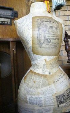 Maggie Paper Mache Dress Form. | VINTAGE SEWING | Pinterest ...