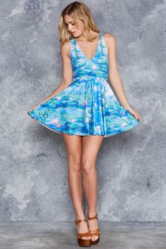 Pink Water Lilies Marilyn Dress - LIMITED ($95AUD) by BlackMilk Clothing