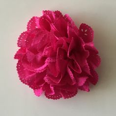 "ONE 3""  Large Fuchsia Eyelet Fabric Flower-Applique-hairbow supplies-diy wedding-crafts-scrapbook-headband supplies-wholesale Flowers-Bulk by BBBSupply on Etsy"