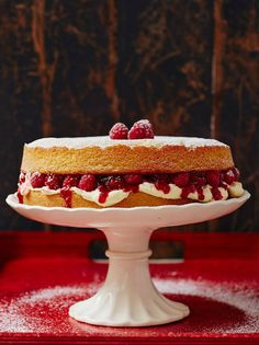 Oh yes! My favourite cake growing up comes in a vegan version! Jamie Oliver's Vegan Victoria sponge