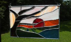 Sunset over the water stained glass panel by WhimsicalJewels, $195.00  Wonderful Art by a Wonderful Woman!!