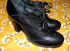 Born Black Size 6 Womens Wingtips Lace Up by VintyThreads on Etsy, $37.11