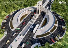Feinmotorik-Ausgleichsspiel - New Ideas Futuristic City, Futuristic Architecture, Facade Architecture, Landscape Architecture, Landscape Design, 2bhk House Plan, Plan Maestro, Pop False Ceiling Design, Minecraft City