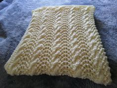 Cable and Feather Baby Blanket