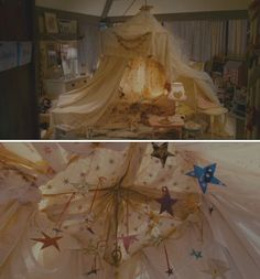 The tent from The Holiday. Would love to be a kid and build this for a rainy afternoon and snuggle/read inside...