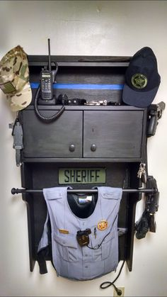 It's happening! Police Gear Stand, Police Duty Gear, Police Officer Wife, Police Wife Life, Airsoft, Weapon Storage, Gun Storage, Warrior Rack, Edc