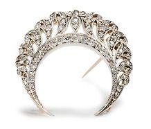 Poetic Crescent Moon Diamond Brooch
