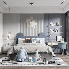 Luxury Kids Bedroom, Room Design Bedroom, Boys Bedroom Decor, Kids Room Design, Baby Room Decor, Bed Design, Toddler Rooms, Daughters Room, Luxurious Bedrooms