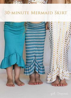 Easy DIY Skirt for Girls Back to School | How to Sew A Mermaid Skirt by DIY Ready at http://diyready.com/12-back-to-school-diy-clothes-you-can-make/