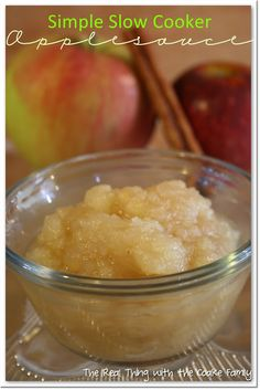 Crockpot recipes are the best and so easy too! This Crockpot cinnamon applesauce recipe is so delicious. Perfect fall food!
