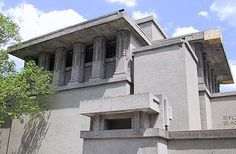 Sacred Buildings: Cubic Concrete Unity Temple in Oak Park, Illinois.   Frank Lloyd Wright's revolutionary Unity Temple was one of the earliest public buildings constructed of poured concrete. The National Trust for Historic Preservation named Unity Temple one of America's 11 Most Endangered Historic Places in 2009.