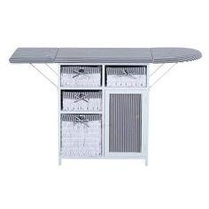 commode armoire de rangement table repasser pliable noir blanc neuf 91 country style. Black Bedroom Furniture Sets. Home Design Ideas