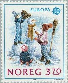 Norway, Postage Stamp, 1989.
