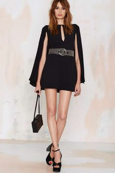 Nasty Gal Above It All Cape Romper | Shop Clothes at Nasty Gal!