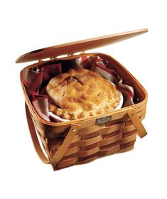 Best Double Pie Carrier    Peterboro Two-Pie Basket  Traveling with fragile pastries shouldn't turn you into a basket case. Just pick up this winner: The double-hinged lid swings all the way back for easy access to the roomy interior, and a sturdy footed platform allows you to stack two pies with confidence.    To buy: $49, peterborobasket.com.