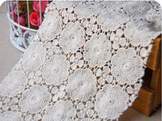 Items similar to Pure Cotton Lace Fabric crocheted Hollowed Out Florals Pattern Dress Gown Fabric Curtain Baby Cloth Fabric Supplies DIY Accessories on Etsy Crochet Curtains, Crochet Tablecloth, Pattern Dress, Dress Patterns, Curtain Fabric, Diy Accessories, Fall Harvest, Cotton Lace, Lace Fabric