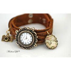 MadamLili - skórzany zegarek Obieżyświat