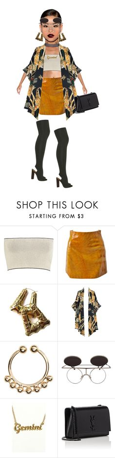 """""""#Bomb"""" by telag ❤ liked on Polyvore featuring YEEZY Season 2, Calvin Klein Collection, Versace, Lenny, H&M and Yves Saint Laurent"""