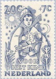Postage stamp Netherlands  1949