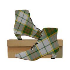 1013ff32b36f BRITISH COLUMBIA DRESS TARTAN Women s Pointed Toe Low Heel Booties (Model  ...