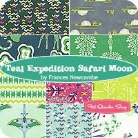 Teal Expedition Safari Moon Fat Quarter BundleFrances Newcombe for Art Gallery Fabrics