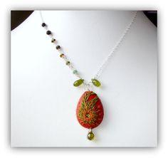 Petro Tourmaline necklace with Vesuvianite and by Peelirohini, $58.00