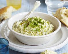 Sabrina Ghayour's pistachio and feta dip is a rich and moreish dip with a hint of spice and lots of fresh herbs