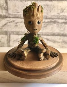 Real Wood Baby Groot Gardians of the Galaxy Wood Groot I Am Groot Fan Art Cosplay Print Gift For Creative Gifts, Cool Gifts, Best Gifts, Baby Groot, Christmas Gifts For Boyfriend, Diy Christmas Gifts, Fun Crafts, Paper Crafts, 3d Art