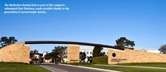 UC Santa Barbara is a leading center for teaching and research located on the California coast - truly a learning and living environment like no other! Uc Santa Barbara, Living Environment, Fence Gate, California Coast, Entrance, University, Mansions, Education, House Styles