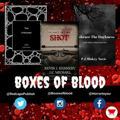 Hand-picked horror, delivered to your door. Featuring the best independent and small-press horror writers working today. Horror Books, Work Today, Get One, Short Stories, Writers, Blood, Boxes, Product Launch, Crates