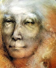 Old Woman - From the Goddess Paintings by Susan Seddon-Boulet