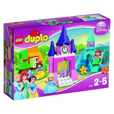 Get set for hours of fun with this enchanting LEGO DUPLO brand Disney Princess collection featuring three of your favorite royal friends. Build the King's castle, then take Cinderella for a spin in Lego Disney Princess, Lego Princesse Disney, Princess Zelda, Lego Duplo, Collection Disney, Princess Collection, Lego Sets, Brick Crafts, 4 Year Old Girl