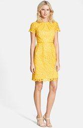 Adrianna Papell Scalloped Lace Dress (Regular & Petite) @Kathy Chadick