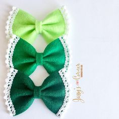 St Patrick's Day Hair Bow St Patrick's Day Hair Clip
