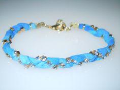 Upcycled Exotic Blue Silk Sari Bracelet  by southernbydesignllc, $34.00, FREE SHIPPING!