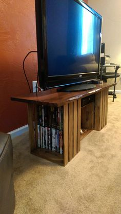 Check out this item in my Etsy shop https://www.etsy.com/listing/204574387/crate-tv-stand