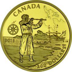 200 Dollar Gold Große Entdecker Kanadas - Henry Hudson PP