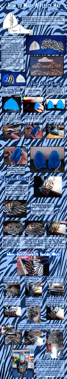 Fleece Hat Tutorial and Pattern