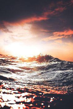 Mystical #ocean #sparkle #evening #yellow #grey #pink