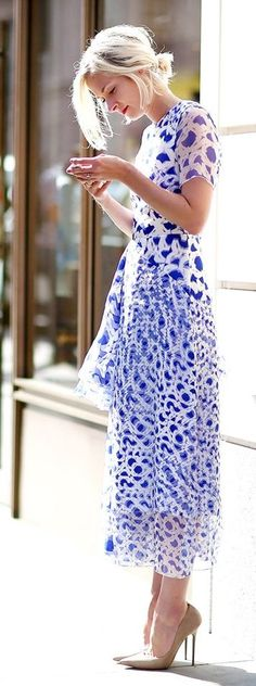 Spring Printed Lfw Inspiration Dress
