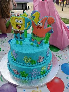 Indy's Spongebob Cake - I am still pround of those colorflow characters...