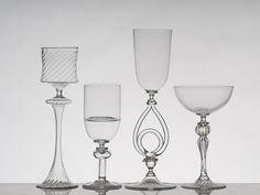 Feast your eyes on these lovely glass goblets! #glass #goblets