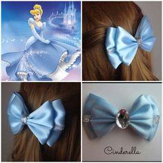 Want fantastic tips on making bows? Go to this fantastic info! Ribbon Art, Ribbon Bows, Ribbons, Cinderella Hair, Cinderella Princess, Disney Hair Bows, Princess Hair Bows, Barrettes, Hairbows